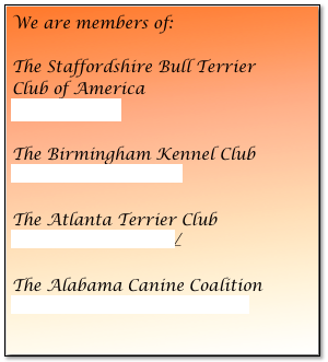 We are members of: